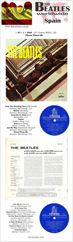 The Beatles Spain LP Odeon MOCL 120 - Please Please Me Vinyl Record Long Play 12""