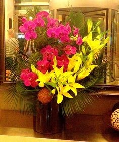 NYC flower delivery - Weekly Services - Lilies and Orchids - Lobby Arrangement