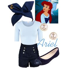 Ariel - Kiss the Girl by disneywithalicia on Polyvore featuring Armani Collezioni, Nine West, BaubleBar and disney ariel kiss the girl disney fashion