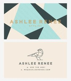 Ashlee Renee geometric cards. #design #branding #identity