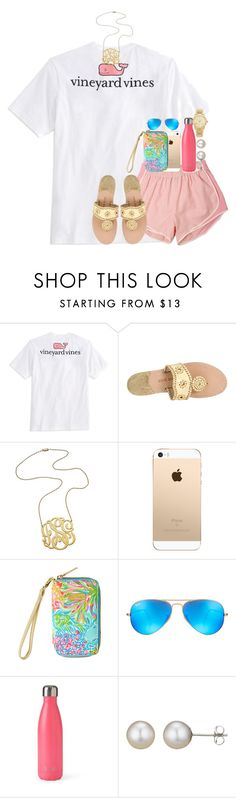 """""""summer set on a snow day"""" by thefashionbyem ❤ liked on Polyvore featuring Vineyard Vines, Jack Rogers, Jennifer Zeuner, Lilly Pulitzer, Ray-Ban, S'well, A B Davis and Michael Kors"""
