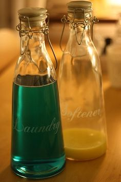 Nice bottles-Laundry & Softener