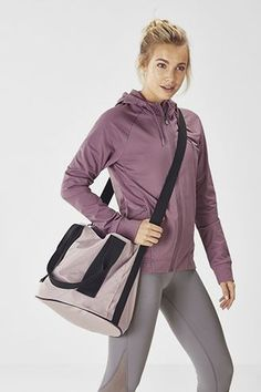 Fabletics Bags The Carina Cinched Bag Womens Pink One Size Fits Most Cinch Bag, No Equipment Workout, Yoga Pants, Bucket Bag, Hooded Jacket, Shoulder Strap, Your Style, Pink Ladies, Hoodies