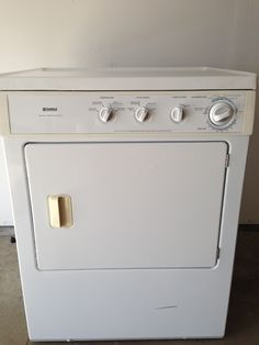 """Large Capacity Kenmore gas dryer in GemmaJames' Garage Sale in Portage , MI for $150.. Dryer in very good condition. It is an extra large capacity, eco system, and stainless steel gas dryer. 36"""" tall, 24"""" deep, 27"""" wide."""