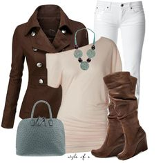 Brown and Teal, created by styleofe on Polyvore