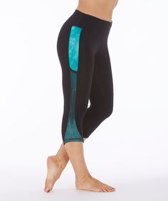 Look what I found on #zulily! Balance Collection Bahama Spliced Capri Leggings by Balance Collection #zulilyfinds