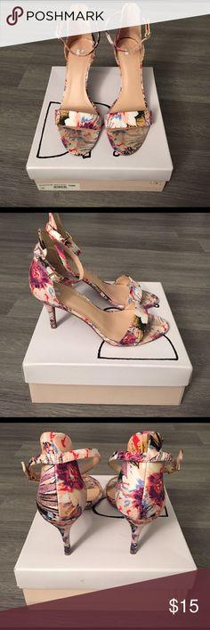 BP open toe dress sandal Floral print dress sandal size 7. Original box included. bp Shoes Heels