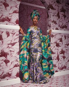 #AfricaDay  Launched to fight against all enemies of Africa's progress.  A long way traveled. A long way to go. But WE MOVE.  #UseYourArmy 📸 from @vlisco Latest Ankara Dresses, Iconic Dresses, Latest Ankara Styles, Gala Dresses, Lookbook Mode, Fashion Lookbook, Traditional Hairstyle, Style Africain, African Fabric