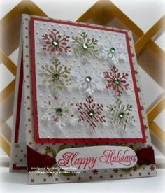 punched snowflake card by lorie