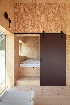 Home Room Design, Tiny House Design, Plywood Interior, A Frame Cabin, Tiny House Living, Cottage Homes, Lofts, House In The Woods, Home Fashion