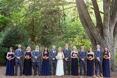 Bridal Party Navy Blue Choose Your Own Dress Bridesmaids Gray Suit Blue Tie Groomsmen   Seattle-Washington-Wedding-Photographer-Woodland-Park-Zoo-Destination-Wedding-Photographer-TréCreative