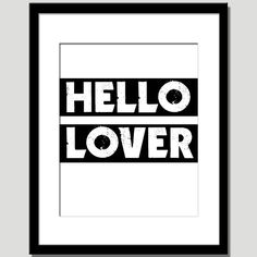 chic elegant hello lover quote paper print in ivory by EcoPrint, $14.00
