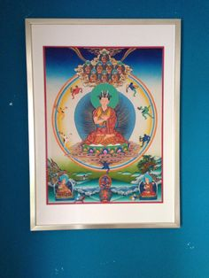Now the new 8th Karmapa Thangka is framed and found its place in our home.