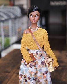 Dolls Dolls, Dollhouse Dolls, Dollhouse Miniatures, African American Dolls, Black Barbie, 50 Shades, Dollhouses, 18th Century, Poppy