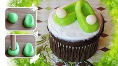 Cupcakes com sapatinhos da Tinker Bell