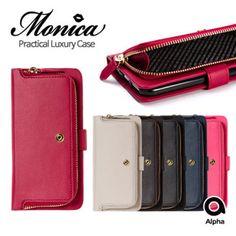 S2B Monica Diary Case LG G4 Case LG G3 Case 6 Colors Bill Coin Pocket Wallet #S2B
