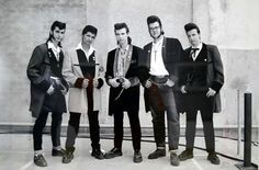 Great 50s Dresses, Dance Dresses, Boys Leather Jacket, Leather Jackets, Rock And Roll Artists, 50s Rock And Roll, Teddy Boys, Rude Boy, Culture Club