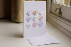 3D Hearts Card by HandmadebySophieEtsy on Etsy