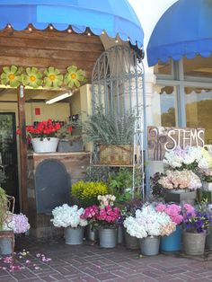 Love the looks of this little floral shop