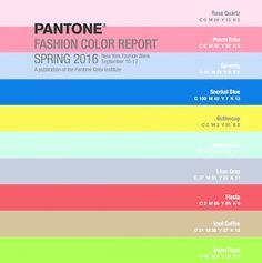 Colores de moda para la primavera 2016
