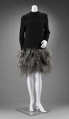Geoffrey Beene, woman's black dress, American, about 1968.