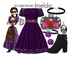 """Imelda"" by leslieakay ❤ liked on Polyvore featuring Bling Jewelry, Astrid & Miyu, Alexander McQueen, Sabbadini, STELLA McCARTNEY, disney, disneybound, pixar, coco and disneycharacter"