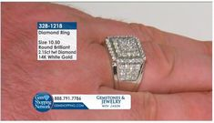 2.15 ctw Diamond Round 14K White Gold Mens Ring Size 10.5  If you love being surrounded by exquisite jewelry then this is your dream destination. Gem Shopping Network is the most exquisite viewing experience on TV. Now available on live streaming and on apps.