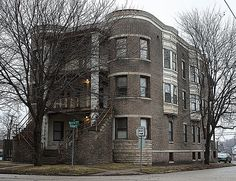 Springfield Il Interesting Old Apartment Building In Vinegar Hill By Myoldpostcards Via Flickr