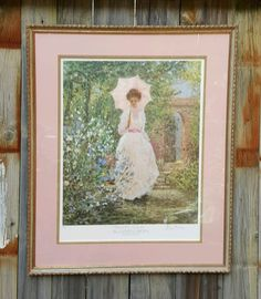 Vintage ALAN MALEY PRINT ~ SIGNED NUMBERED Limited Edition ~ Secluded Garden  #Impressionism