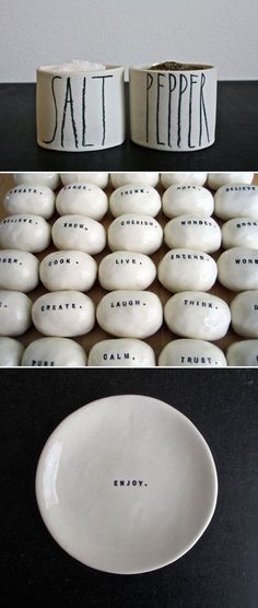 [Rae Dunn x Ceramics] pepper& salt& your positive LIFE
