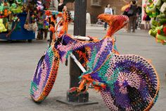 Krakow's Main Square and a bike that became an inspiration for our knitted bike accessories collection