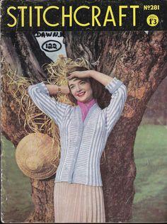 Stitchcraft Magazine 1950s Knitting Pattern by jennylouvintage
