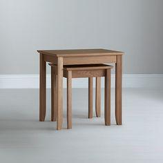 Buy John Lewis Alba Nest of 2 Tables, Oak Online at johnlewis.com
