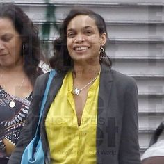 Rosario Dawson captured on the streets of NYC wearing the Ideal Woman Necklace: Evolution of the Bikini Line