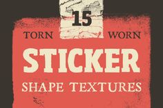 Check out Torn Sticker Shape Textures by GhostlyPixels on Creative Market