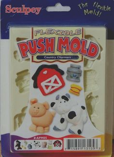 Sculpey flexible push mold, country charmers #APM05 #Sculpey