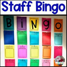 Staff Sunshine:  Bingo- A Way to Boost Morale and Have Some Fun