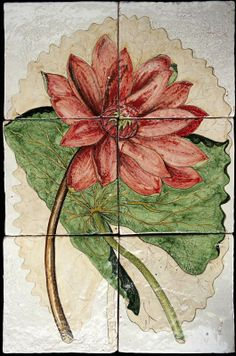 Dettaglio articolo 10618 botanical tiles - stand Recuperando #recuperando - available on recuperando.com Painting, Painting Art, Paintings, Paint, Draw