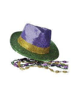 Mardi Gras Fedora Hat Adult