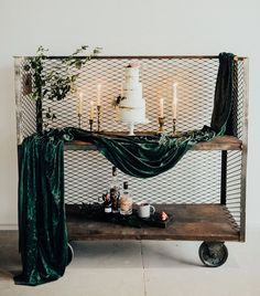 Colorful Vintage Wedding Inspiration with emerald velvet accents for the cake table vintage wedding Elegantly Emerald: A Modern Take on a Vintage-Inspired Wedding Wedding Themes, Wedding Colors, Our Wedding, Dream Wedding, Wedding Decorations, Wedding Ideas, Cake Tables For Weddings, Emerald Green Weddings, Vintage Inspiriert