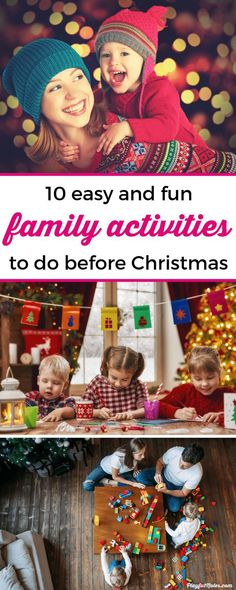 - Christmas family activities: If you want to create lovely moments to enjoy with your family during the holiday season, here is a list of easy and fun ideas you can try with your kids! — Christmas activities – Things to do for kids before Christmas Family Activities With Toddlers, Christmas Activities For Families, Preschool Activities, Preschool Family, Children Activities, Christmas Gifts For Women, Family Christmas, Before Christmas, Christmas Time