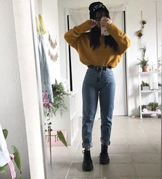 50 Winter Is The Most Suitable Time For Eye-Catching Edgy Outfits - Outfits 90s, Korean Outfits, Grunge Outfits, Casual Outfits, Winter Fashion Outfits, Look Fashion, 90s Fashion, Korean Fashion, Vintage Outfits