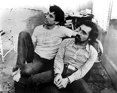 Just wow. Early photo of Martin Scorsese and Robert de Niro. Jedi Artists.