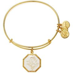 Alex and Ani Fortune's Bliss Sweet Pea Expandable Wire Bangle ($38) ❤ liked on Polyvore featuring jewelry, bracelets, wire jewelry, bangle bracelet, bracelet bangle, wire bangles and flower bangle bracelet