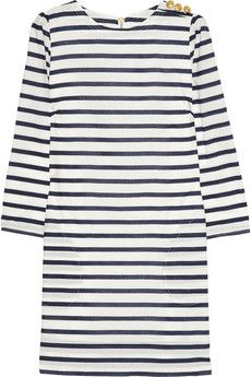 Aubin & Wills Swarthmore striped cotton-poplin mini dress