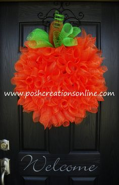 Hey, I found this really awesome Etsy listing at http://www.etsy.com/listing/158105880/pumpkin-spiral-curly-q-wreath-fall-decor