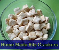Home Made Ritz Crackers