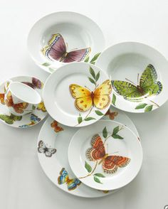 Butterfly Dinnerware from Horchow  Absolutely beautiful; and they make me smile!
