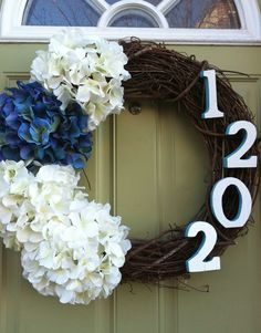 DIY spring wreath. Instead of address maybe last name, or the intial. Very cute. idea though