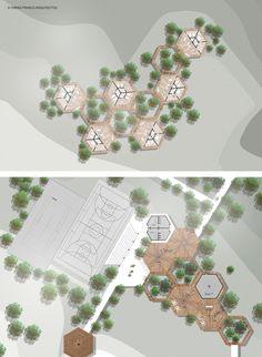 Concept Models Architecture, Open Architecture, Architecture Concept Drawings, Architecture Sketchbook, Landscape Architecture Design, School Architecture, Social Housing Architecture, Urban Design Concept, Urban Design Diagram